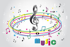 Music notes - color background Stock Image