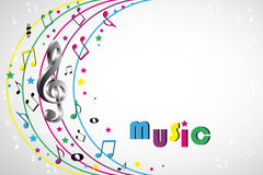 Music notes - color background Stock Photography