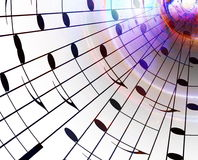 Music notes and color background. Music concept.