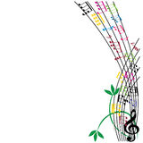 Music notes composition, musical theme background, vector illust Royalty Free Stock Photography