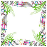 Music notes composition, musical theme background, vector illust Stock Photo