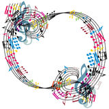 Music notes composition, stylish musical theme background, vecto Stock Photography