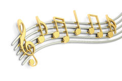 Music notes, 3D rendering Stock Image