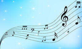 Music notes dancing Royalty Free Stock Photos