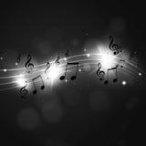 Music Notes Dark Background Royalty Free Stock Image