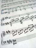 Music notes detail. Blurred Royalty Free Stock Photo