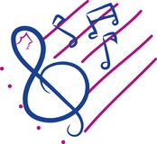 Music notes. Different  with different backgrounds.  drawings royalty free illustration