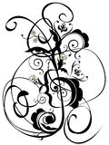 Music Notes Floral Ornament Royalty Free Stock Images