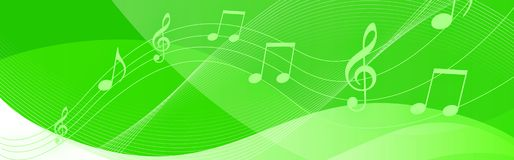 Music notes header Royalty Free Stock Photos