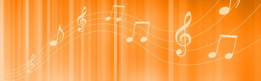 Music notes header Royalty Free Stock Image