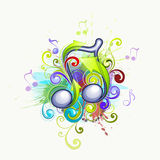 Music notes illustration Stock Image