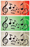 Music notes illustration  banner Royalty Free Stock Photography