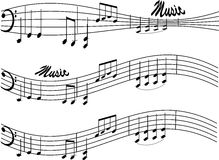 Music notes. Illustration of music notes on white background Royalty Free Stock Image