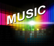 Music Notes Indicates Sound Track And Composer Royalty Free Stock Photography