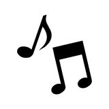 Music notes isolated icon isolated icon design. Illustration graphic vector illustration