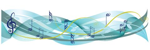 Music notes and leaves. The image is also available as vector Stock Image