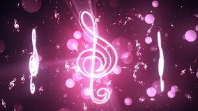 Music Notes 2 Loopable Background stock footage