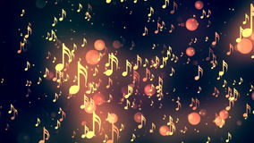 Music Notes 5 Loopable Background stock footage