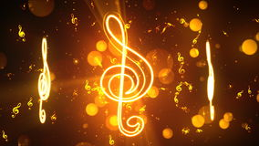 Music Notes 1 Loopable Background stock footage