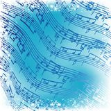 Music notes manuscript. Abstract background Royalty Free Stock Photography