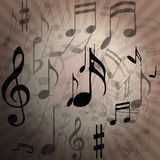 Music notes-Melody Royalty Free Stock Image