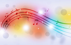 Music Notes Multicolor Background Stock Image
