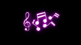 Music Notes Neon Light stock video