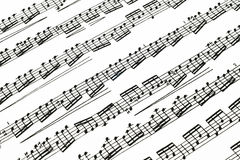 Music notes on paper Royalty Free Stock Photo