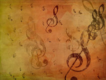 Music notes on paper Royalty Free Stock Image