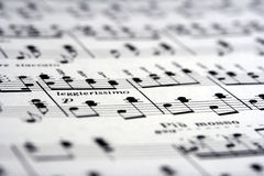 Music Notes on Paper stock photography