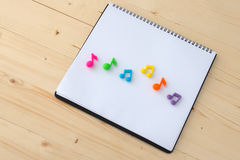 Music Notes on paper book Royalty Free Stock Photos