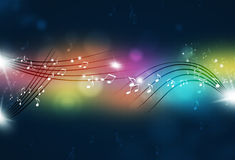 Music Notes Party Background Stock Photography
