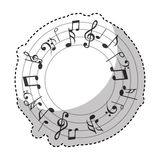 Music notes pattern isolated icon Royalty Free Stock Photography