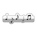 Music notes pattern isolated icon Royalty Free Stock Image
