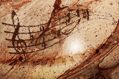 Music. Notes with piano and background texture Royalty Free Stock Image