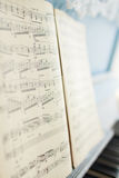 The music notes on the piano Royalty Free Stock Photography