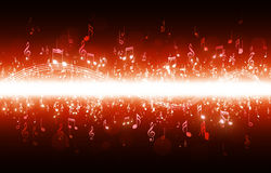 Music Notes Red Poster royalty free illustration