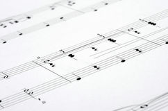 Music notes score background Stock Photos