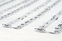 Music notes score background Royalty Free Stock Photography