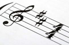 Music notes score background Stock Photo