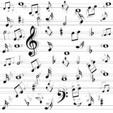 Music notes seamless. Background for design Royalty Free Stock Photography