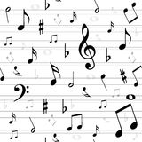 Music notes  seamless. For your design Stock Photography