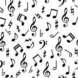 Music notes seamless pattern Royalty Free Stock Images