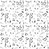 Music notes - seamless vector pattern. Music notes - seamless vector design. Endless pattern Stock Image
