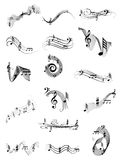 Music Notes set Stock Photography