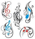 Music notes stock illustration