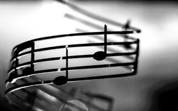 Music notes. Shallow, dof, color effect added stock photos