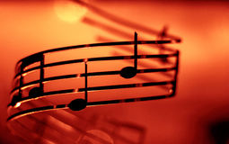 Music notes, shallow, dof, color effect added. Music notes shallow dof, color effect added , image of a royalty free stock image