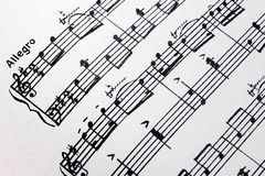 Music notes sheet Royalty Free Stock Photos