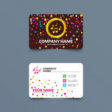 Music notes sign icon. Musical symbol. Business card template with confetti pieces. Music notes sign icon. Musical symbol. Phone, web and location icons stock illustration